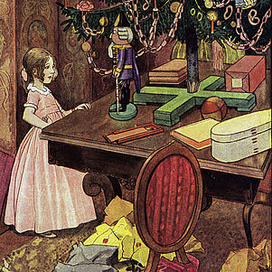 "Picture by Artur Scheiner for E. T. A. Hoffmann's childrens' fairytale ""The Nutcracker and the Mouse King"" 
