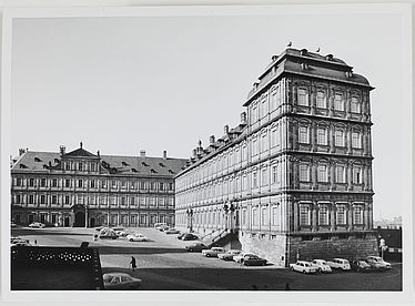 The New Residence as seen on Bamberg Cathedral square in the late 1960s | V BuG