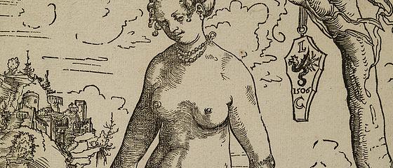 Lucas Cranach d. Ä.: Venus. Holzschnitt, 1506 (wohl vordatiert von 1509)   SBB, I L 11