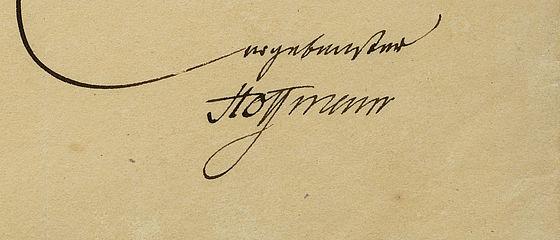 Brief von E. T. A. Hoffmann an Friedrich Arnold Brockhaus vom 15. Dezember 1817 | SBB, Autogr. H 80, Bl. 1r