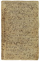Letter by Johannes Junius, mayor of Bamberg, to his daughter Veronica from prison. He had been arrested and tortured due to accusations of witchcraft. Bamberg, 24th July 1628 | SBB, RB.Msc.148/300, fol. 1r