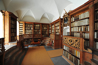 Showroom in the former archive of the Prince-Bishop, created by Nikolaus Bauer and Michael Bayer under Prince-Bishop Franz Konrad von Stadion und Tannhausen (1753–1757) | SBB