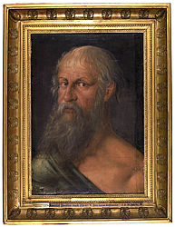 Paul the Apostle as an old man. Oil on parchment by Hans Hoffmann, early 16th century | SBB, Gem.43