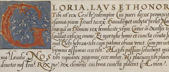 G-Initiale aus dem Schreibmeisterbuch des Franz Joachim Brechtel. Nürnberg, 1573 | SBB, JH.Msc.Art.88, Bl. 12r