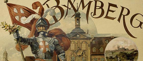 Touristisches Werbeplakat für die Stadt Bamberg, um 1900 | SBB, MvO D II 80