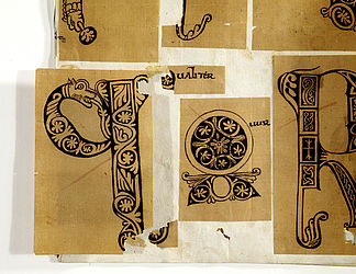 Traced copies of initials found in manuscripts from Bamberg. Bamberg, 18th century | SBB, Msc.Misc.172(1, fol. 5v