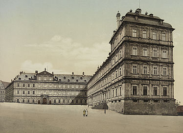 The New Residence in Bamberg. Colourised photograph | SBB, V Bg 492